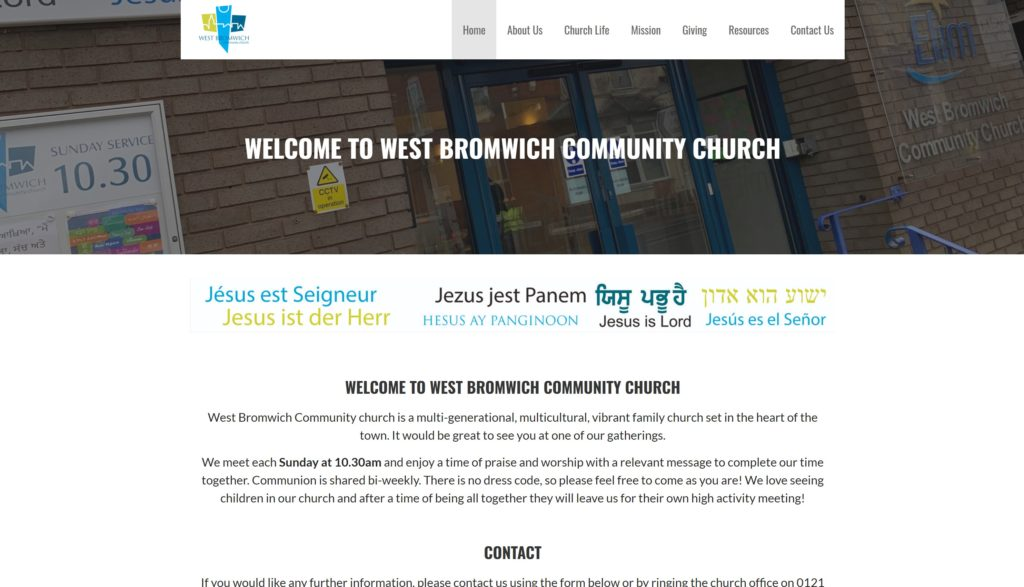 Elim-West-Bromwich-Church-Website-Build