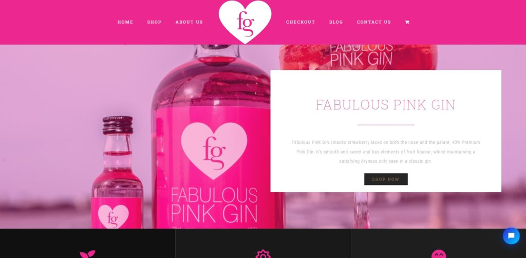 Fabulous Gin Company - Online Store Build - Liverpool UK