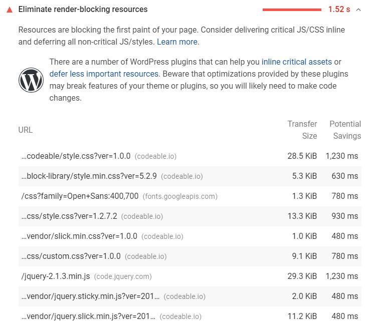 Google-Core-Vitals-Eliminate render-blocking resources