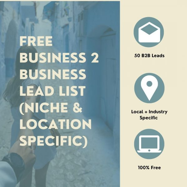Free Business 2 Business Lead List (Niche & Location Specific)