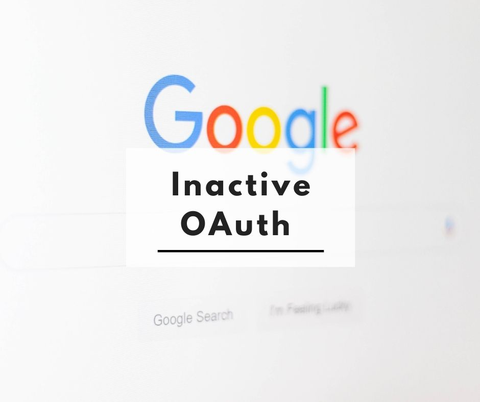 Google Cloud project Inactive OAuth Redirect URIs and JavaScript Origins