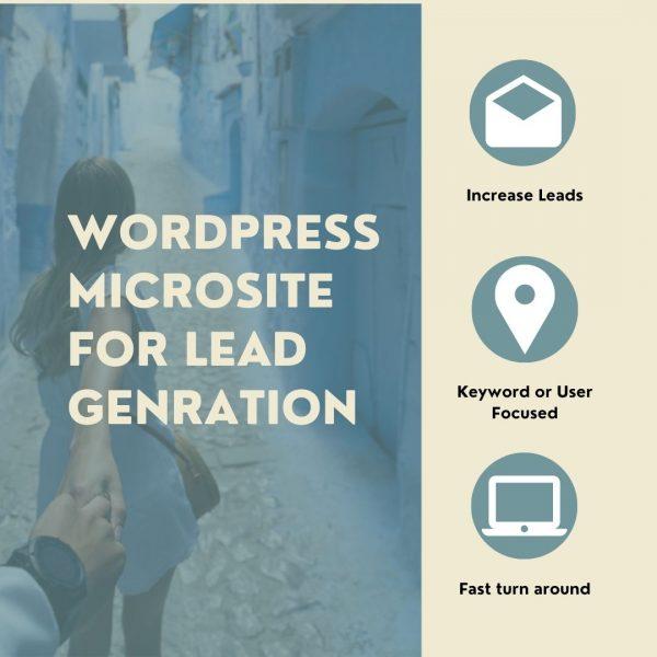 WordPress Microsite for Lead Genration