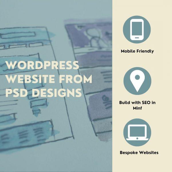 WordPress Website from PSD Designs